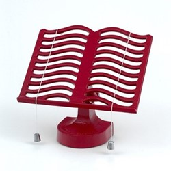 Cook book stand, Chilli Red cast iron