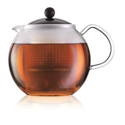 Assam Tea press, 1.5 litre, black/clear
