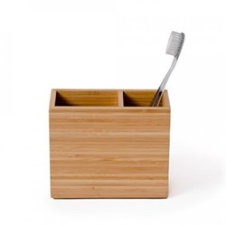 Arena Toothbrush box, H11.5 x W13 x D5cm, bamboo