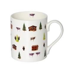 Alpine Summer Mug, H9.5 x W10.5 x D8.5cm - 35cl, multi