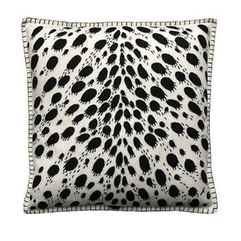 Cheetah Print Cushion, 46 x 46cm, cream