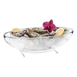 Temptation Bowl, L40 x W20 x H10cm, silver plate