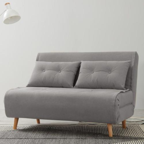 Haru Small sofa bed, H78 x W120 x D86cm, Marshmallow Grey