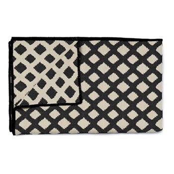 Cadogan Check Throw, 240 x 180cm, black