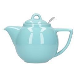 Geo 2 cup teapot, H13 x D12cm, aqua