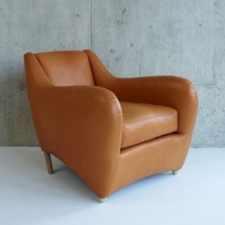 Balzac by Matthew Hilton Armchair, W85 x D102 x H80cm, utah russet leather