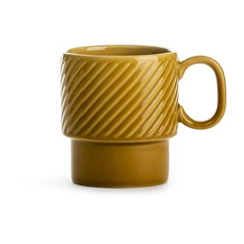 Coffee & More Stackable mug with handle, 25cl, yellow