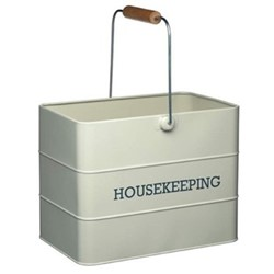 Living Nostalgia Housekeeping box, 33 x 21 x 26cm, cream