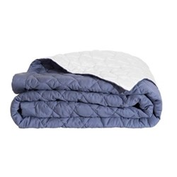Montaigne Bed cover, L260 x W280cm, slate blue / platinum
