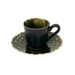 Riviera Forest Set of 6 coffee cups and saucers, 8cl, green