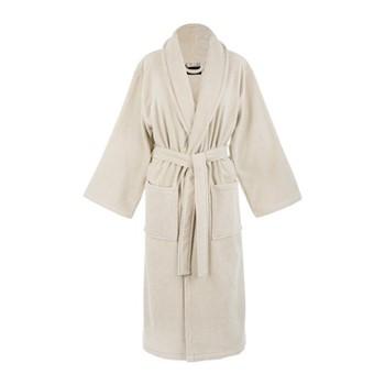 Velour bathrobe, small, linen