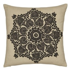 Bullerswood Square cushion, 40cm, charcoal
