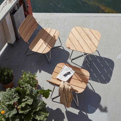 Lilium Lounge table, 50cmx60cmx60cm, Beige/ Natural
