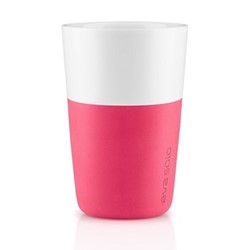 Café Latte Pair of tumblers, 360ml, berry red