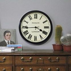 Battersby Wall clock, 50 x 50 x 8cm, black metal