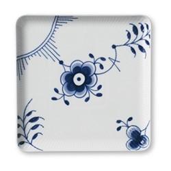 Blue Fluted Mega Square plate, 20cm