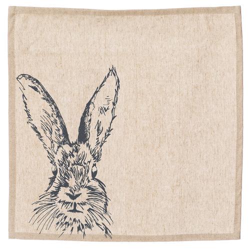 Hare Set of 4 napkins, 40 x 40cm