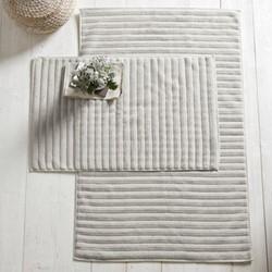 Rib Hydro Cotton Bath mat, 50 x 80cm, platinum