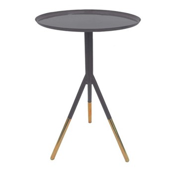 Tripod table, H58cm x Dia37cm, grey/copper