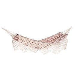 Rio Hammock, 250 x 160cm, natural & red