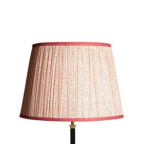 Straight Empire Lampshade, 40cm, Coral Squiggles