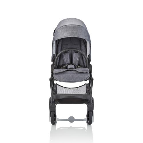 J-cub Stroller, Frost grey, H105 x W50 x L69cm, Grey