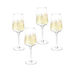 Chelsea Gold Leaf Set of 4 wine glasses, 0.26 Litre