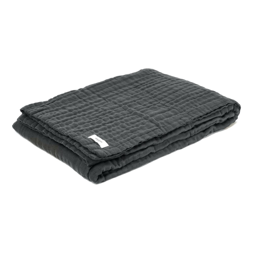 6-layer soft blanket, 200 x 140cm, Dark Grey