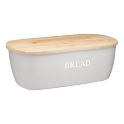 Natural Elements Bread bin, 36 x 20 x 13cm, bamboo