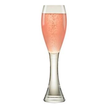 Manhattan Pair of champagne flutes, W55 x H23.5cm, clear