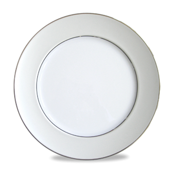 Clair de Lune Uni Round flat platter, 31.5cm