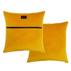 Zip velvet cushion L50 x W50cm