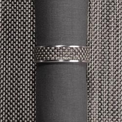 Mini Basketweave Napkin ring, 4cm, light grey