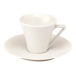 Seychelles Coffee cup and saucer, 10cl, white