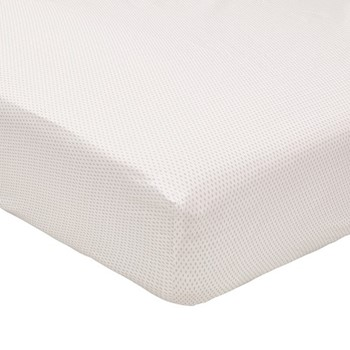 Tulip Double fitted sheet, L190 x W140 x H34cm, cloud grey
