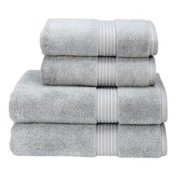 Supreme Hygro Pair of hand towels, L50 x W100cm, silver