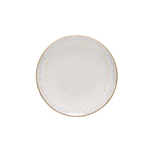 Taormina Set of 6 bread plates, 17cm, white/gold