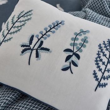 Paper Doves Cushion, L40 x W30 x H10, denim blue