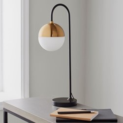 Mayfair Table lamp, L21 x W18 x D59cm, gold/black