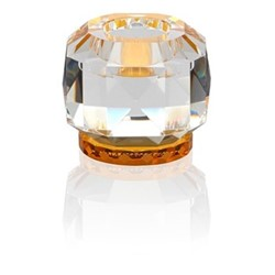 Texas T-light holder, L9 x H7.8 x D9cm, clear/amber