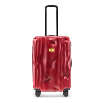 Stripe Medium suitcase, H68 x W45 x D26cm, red