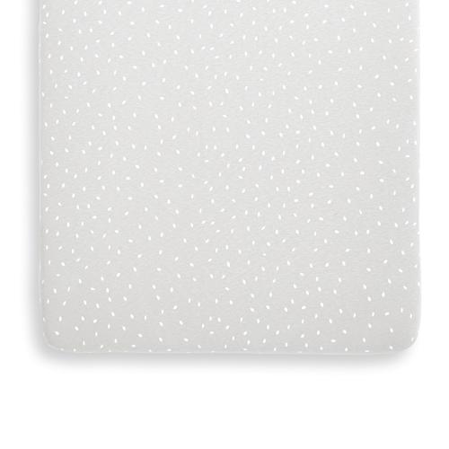 Rice - Organic Crib Fitted sheet, W35 x L80cm, Dove