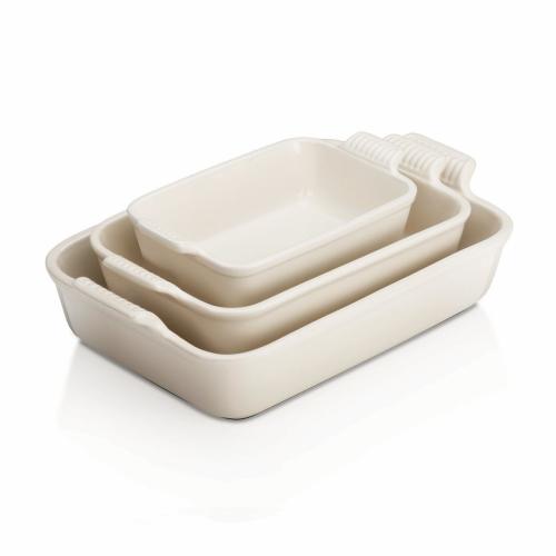Stoneware Deep rectangular dish, 32cm - 3.85 litre, Meringue