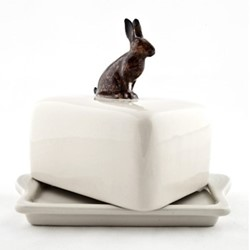 Hare Butter dish, L11.5 x D9 x H10.9cm