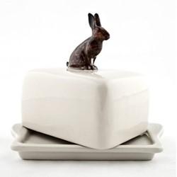Hare Butter dish, L11.5 x D9 x H10.9cm