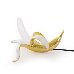 Banana Dewey Lamp, L33 x W25 x H19cm, White/Gold