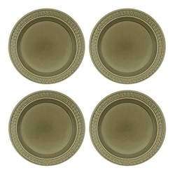 Botanic Garden Harmony Set of 4 plates, 27cm, green