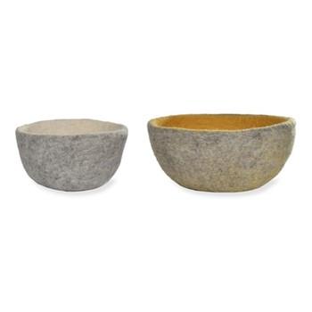 Southwold Pair of bowls, H12 x D26 x W26cm, grey