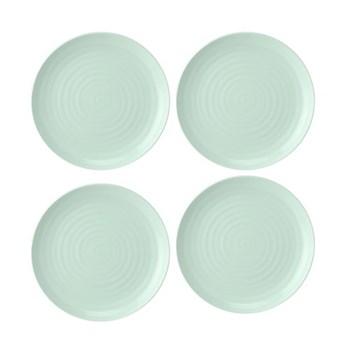 Colour Pop Set of 4 coupe plates, 27cm, celadon