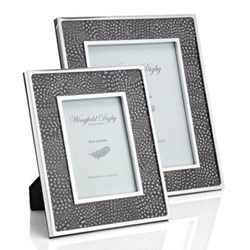 "Feather and Glass Photograph frame, 7 x 5"", guinea fowl"